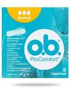 OB ProComfort Normal tampony higieniczne 8 sztuk REALIZACJA ZAMÓWIEŃ W 1 DZIEŃ ROBOCZY Johnson & Johnson