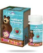 Domowa Apteczka Musujące witaminki Masza i Niedźwiedź o smaku malinowym 60 tabletek do ssania REALIZACJA ZAMÓWIEŃ W 1 DZIEŃ ROBOCZY Domowa Apteczka