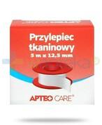 Apteo Care przylepiec tkaninowy 5m x 12,5mm kolor czerwony Apteo