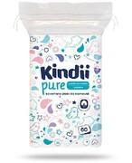 Kindii Pure miękkie bawełniane płatki dla niemowląt 60 sztuk [Baby Sensitive, Cleanic Kindii] Harper Hygienics