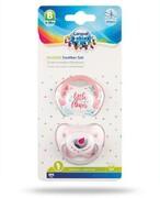 Canpol Babies zestaw smoczków silikonowych 6-18m różowy 2 sztuki [23/952_pin] Canpol