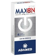 MaxOn Active 25 mg (Sildenafil) lek na potencję 4 tabletki Adamed Grupa