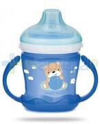 Canpol Babies Sweet fun kubek niekapek dla dzieci 9m+ niebieski miś 180 ml [57/300] 1000