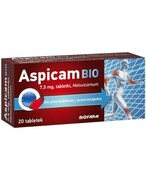 Aspicam Bio 7,5mg 20 tabletek Biofarm