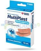 Rodzina Zdrowia MultiPlast wodoodporne plastry z opatrunkiem 12 sztuk Silesian Pharma