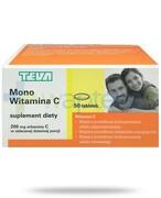Teva Mono witamina C 200mg 50 tabletek REALIZACJA ZAMÓWIEŃ W 1 DZIEŃ ROBOCZY Teva Pharmaceuticals