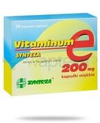 Vitaminum E Synteza 200mg witamina E 30 kapsułek REALIZACJA ZAMÓWIEŃ W 1 DZIEŃ ROBOCZY Synteza Pharma