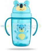 Canpol Babies Hello Little kubek z rurką silikonową 9m+ turkusowy 400 ml [56/500] 1000