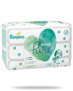 Pampers Aqua Pure chusteczki nawilżane dla niemowląt 3x 48 sztuk Procter & Gamble