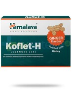 Himalaya Koflet-H Ginger, smak imbirowy, pastylki do ssania 12 sztuk Himalaya Herbals