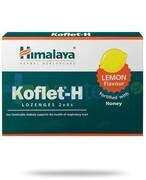 Himalaya Koflet-H Lemon, smak cytrynowy, pastylki do ssania 12 sztuk Himalaya Herbals