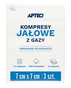 Apteo Care Kompresy jałowe 7 cm x 7 cm 3 sztuk Apteo