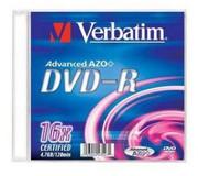 Verbatim DVD-R Advanced AZO Slim Case 1 szt - wniesienie za 1 zł