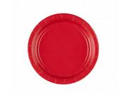 Talerzyki czerwone - 18 cm - 8 szt.