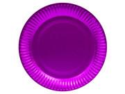 Talerzyki mieniące fioletowe - 23 cm - 8 szt.