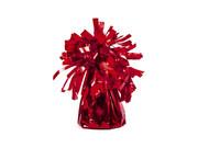 Obciążnik foliowy do balonów napełnionych helem - czerwony - 125 g.