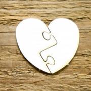 Tekturka wycinanka serce puzzle (3szt)