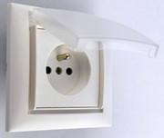 Ramka jednokrotna plastikowa biała bryzgoszczelna IP44 Seria Corner DPM