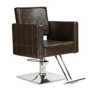 Fotel fryzjerski Leone brązowy BM-297