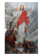 Puzzle Pan Jezus Zmartwychwstały 20x13cm 40 elementów PUZ053 - 56840