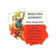 Plakietka drewniana MAPA POLSKI Św. Krzysztof/modlitwa 4x4cm - 60869