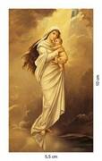 Obrazek Matka Boża z Dzieciątkiem (postać), bez nadruku na odwrocie obrazka - ! - 06127