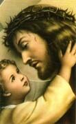 Obrazek Pan Jezus z dzieckiem (bez tekstu) - 04290