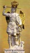 Obrazek św. Michała Archanioła z Gargano. Modlitwa papieża Leona XIII egzorcyzm prosty - 00779