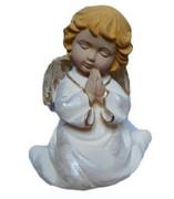 Figura Aniołek 14cm klęczący biało-złoty A11 - 41788