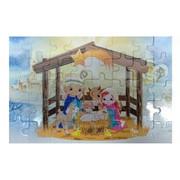 Puzzle Boże Narodzenie Dzieci w szopce 20x13cm 40 elementów PUZ080 - 56853