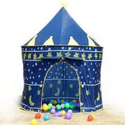 Namiot domek dla dzieci pałac do domu lub ogrodu niebieski