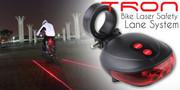 Światło lampka rowerowa tylna + 2x laser + uchwyt