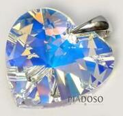 Kryształy SREBRO WISIOREK duży kryształ 28mm 1431703948