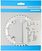 Shimano Alivio FC-M431 Zębatka rowerowa 9-rz., silver 36T 2020 Zębatki przednie Shimano Y-1M298040