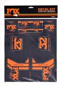 Fox Racing Shox AM Step-Cast Zestaw naklejek, czarny/pomarańczowy 2021 Części zamienne do amortyzatorów Fox Racing Shox 803-01-183
