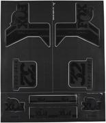 Fox Racing Shox AM Step-Cast Zestaw naklejek, czarny 2021 Części zamienne do amortyzatorów Fox Racing Shox 803-01-179