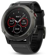 Garmin fenix 5X Saphir Zegarek sportowy GPS, grey 2019 Zegarki i pasy piersiowe dla biegaczy Garmin 010-01733-01