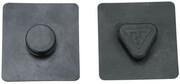 Topeak MTX BeamRack Gumowe podkładki 44x42x1mm 2021 Akcesoria do bagażników Topeak 15810020