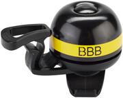 BBB EasyFit Deluxe BBB-14 Dzwonek rowerowy, czarny/żółty 2022 Dzwonki BBB 2905051416
