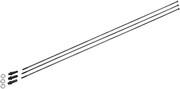 NEWMEN MTB SP D-Light Zestaw szprych 306mm, czarny 2022 Szprychy rowerowe NEWMEN 903650000