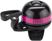 BBB EasyFit Deluxe BBB-14 Dzwonek rowerowy, czarny/różowy 2022 Dzwonki BBB 2905051417