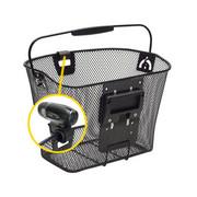 KlickFix Uni koszyk z mocowaniem na lampę, black 2020 Kosze na kierownicę KlickFix 0391KLIK