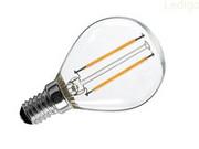 Żarówka kulka LED E14 2W Zimna Retro