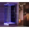 Kabina prysznicowa z hydromasażem 80cm x 100cm czarna Aquaholm IK-1207C
