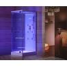 Kabina prysznicowa z hydromasażem 80cm x 100cm biała Aquaholm IK-1207 B