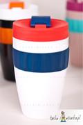 Kubek na kawę To-Go, biały/niebieski/czerwony 400 ml Sagaform 5017157