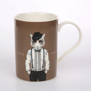 Kubek 300 ml Fashion Animals, brązowy, tygrys Altom Design 5901720682994_TYG