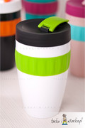 Kubek na kawę To-Go, biały/zielony/czarny 400 ml Sagaform 5017153