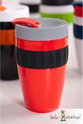 Kubek na kawę To-Go, czerwony/czarny/szary 400 ml Sagaform 5017155