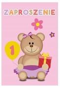 Zaproszenie koperta na roczek dziewczynki urodziny
